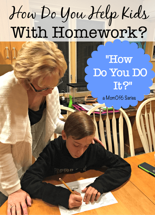 "Moms ask me all of the time, ""How do you help kids with homework when you have such a large family?"" I believe that there are benefits to creating routines around homework time. I've also got some tips to share that have worked at our house when it comes to homework!"