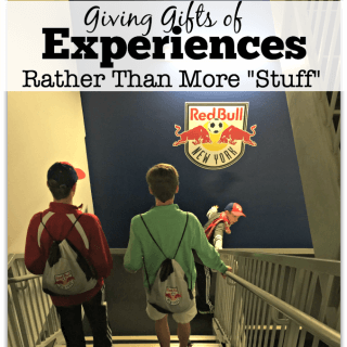"""Giving Gifts of Experiences Rather Than More """"Stuff"""""""