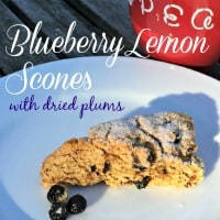 My morning tea tastes even better when paired with a delicious baked treat. This week I baked these amazing blueberry lemon scones made with a dried plum puree... and they were oh-so-good!