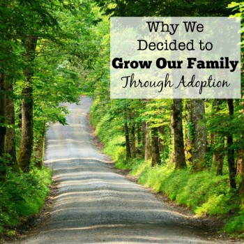 Often the first thing that people want to know, is why did we choose to grow our family through adoption when we already had three kids?