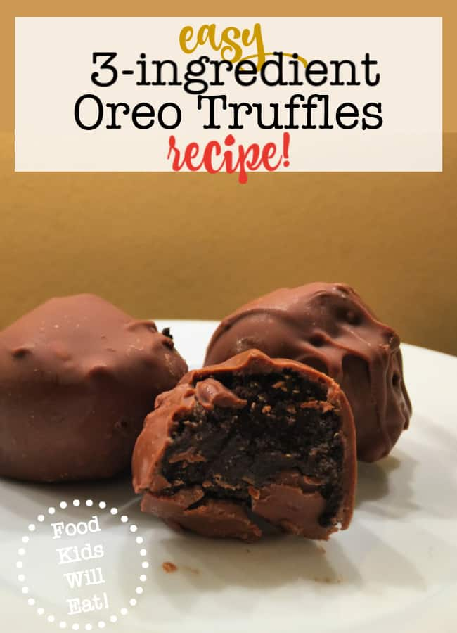 With only three ingredients and a little bit of your time, you can whip up this incredible 3-ingredient Oreo Truffles recipe- a delicious holiday treat!