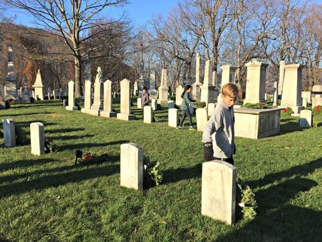volunteering for Wreaths Across America