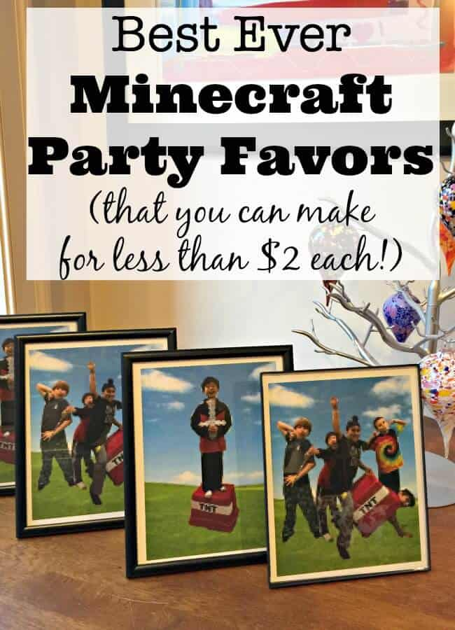 Diy Minecraft Party Favors For Less Than 2 Momof6