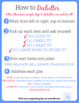 i think if i labeled the proper home for every thing we owned my house would end up looking like a kindergarten classroom - How Do I Declutter My House