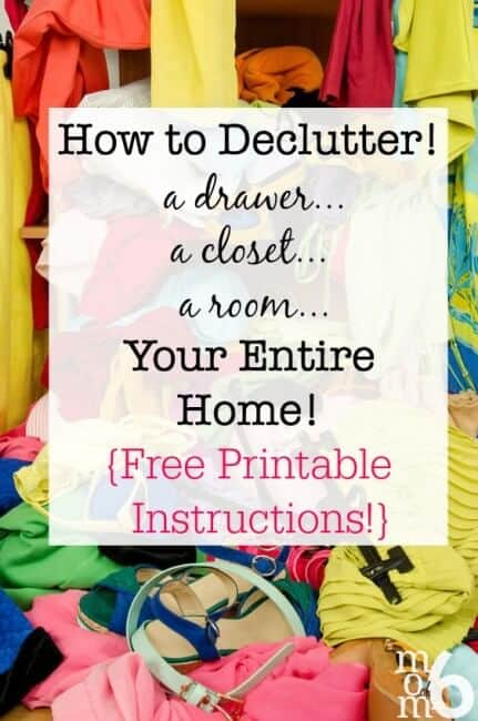 How to declutter a drawer a closet a room your entire for How to organize your closet for free