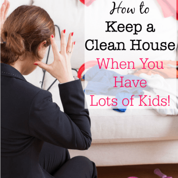 I needed to find a way to stay on top of all of the housework without incurring the cost of a weekly house cleaner, and find a schedule that made this all do-able in my busy life! So over the years I have (kind of) learned how to keep a clean house IN SPITE of having 6 kids!