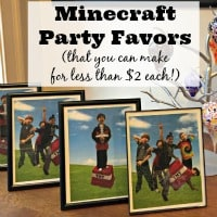 DIY Minecraft Party Favors (for Less Than $2!)