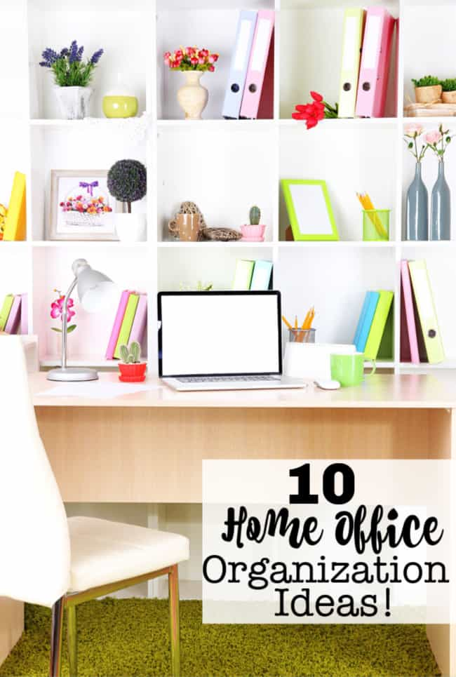 10 Home Office Organization Ideas Momof6 Rh Momof6 Com Desk Organization  Products Desk Layout