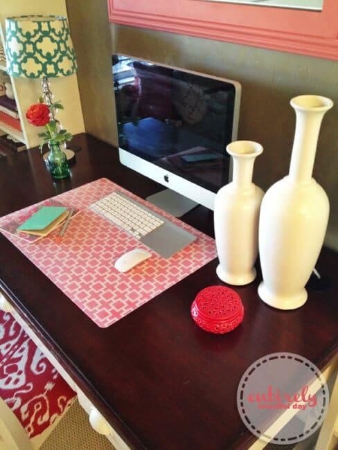 DIY desk blotter