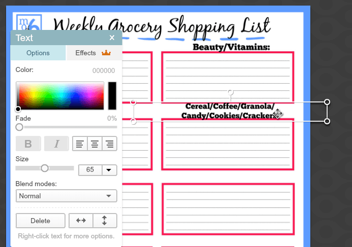 you can download this free grocery list printable and then follow the tutorial to customize