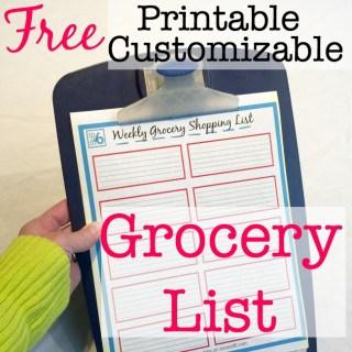 Printable Grocery List!
