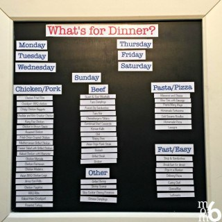 What's for Dinner? How to Create a Magnetic Menu Planning Board!
