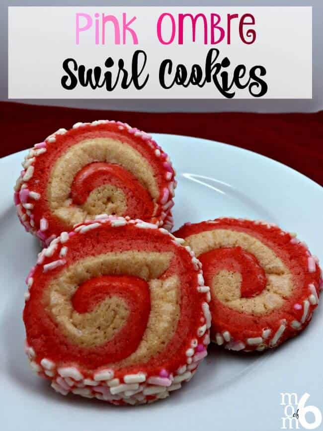 I've made pinwheel cookies before, but this time I thought it would be fun to try a swirl cookie with three shades of pink! So the kids and I created these sweet pink ombre swirl cookies!
