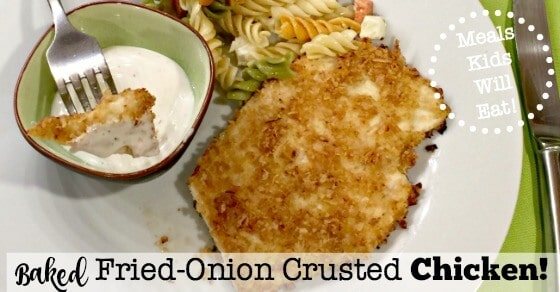Baked Fried Onion Crusted Chicken Momof6