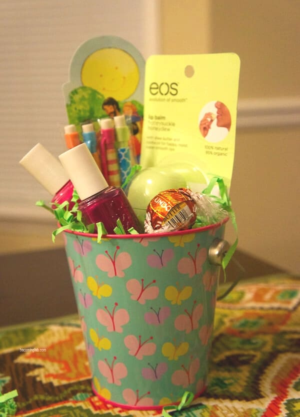 Easter basket ideas for teens- spa basket
