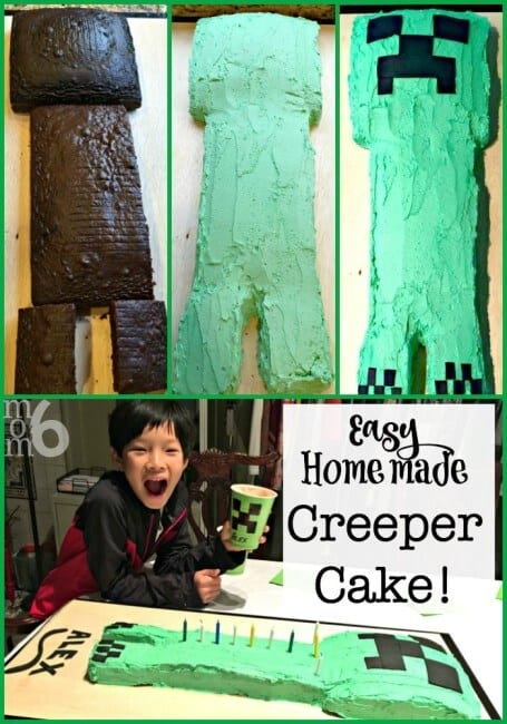 Minecraft is such a fun birthday party theme for tweens! Here are ideas for your own Minecraft party- including how to make this easy homemade Creeper Cake!