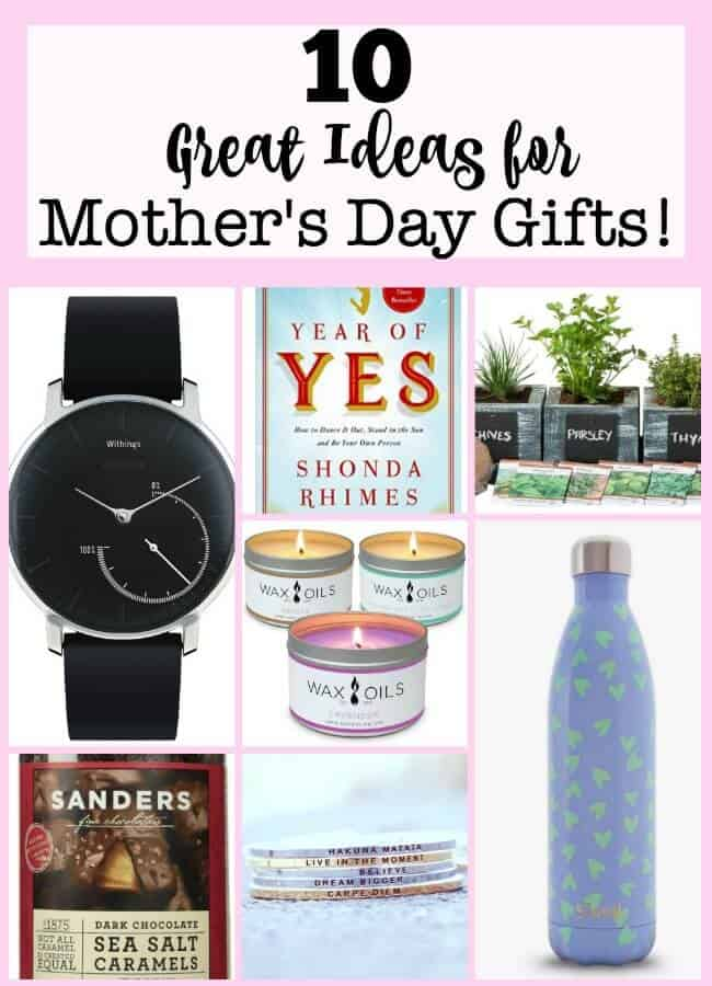 With Mother's Day just around the corner, it's time to start thinking about what would make the perfect Mother's Day gifts for the Moms in your life (or perhaps for you to drop a few hints to those that will be shopping for you!) With that in mind, I have a few ideas for you (or for me!)