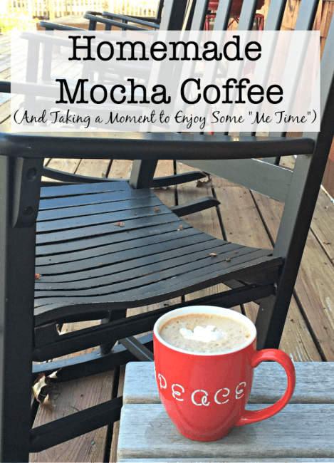 "After a busy morning, I love to find a few minutes to re-charge with a cup of my homemade mocha coffee! I take a deep breath, sip my yummy beverage, and look over the list of things that I would like to accomplish during the day. This is ""Me Time"". Time to relax, refocus, and get reinvigorated. #Folgers #Recipe #sponsored"