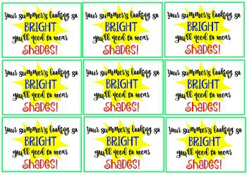 Celebrate the start of summer cool idea with free printable tag download the printable tag a little gift to celebrate the end of the school year and usher in the start negle Gallery