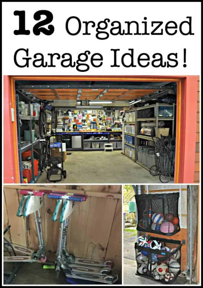 Think having an organized garage is just a dream? Since we often enter our homes via the garage, it would be great if our garages were organized, functional, and pretty, right? Here are 12 organized garage ideas!