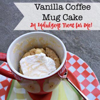 Vanilla Coffee Mug Cake (An Indulgent Treat for One!)