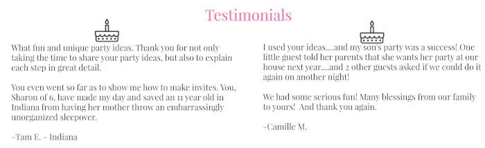 Testimonials for Landing Page