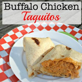 These buffalo chicken taquitos can be pulled together earlier in the day while the kids are at school, and then finished quickly in the evening- in between helping with homework and shuttling kids to sports and activities.