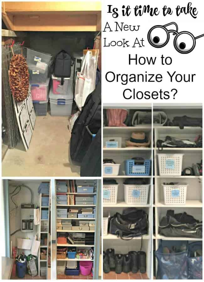 There Comes A Time When You Have To Take A New Look At How To Organize