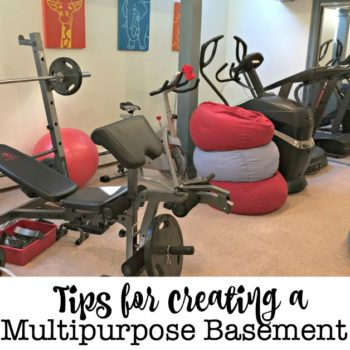 When a basement has a defined purpose and is also well-organized it can be a great multipurpose space in your home. So here are my tips for creating a multipurpose basement that works for you!