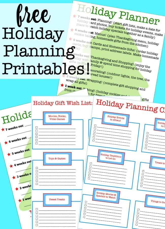 Using these free holiday planning printables helps me to decide what is important to my family and how I can get it all done and still enjoy the holiday season! I think that the key to having a stress-free holiday is to spend some time planning ahead. #HolidayPlanningPrintables #HolidayPlanner #FreePrintable #HolidayWishList #HolidayCheckList