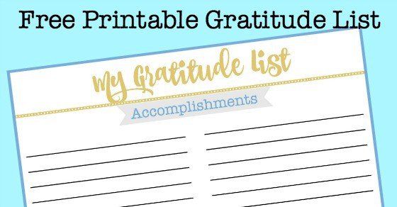 Free Printable Gratitude List to Help You Reflect on the Past Year – Gratitude List Worksheet