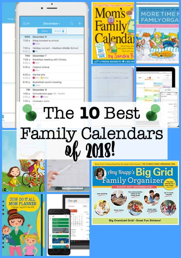 The 10 best family calendars for 2018 momof6 busy moms who want to get organized in 2018 need to have an awesome family calendar solutioingenieria