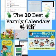 The 10 Best Family Calendars for 2018!