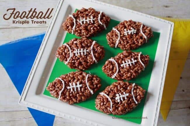 football krispie treats
