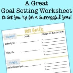 A Great Goal Setting Worksheet to Set You Up for a Successful Year!