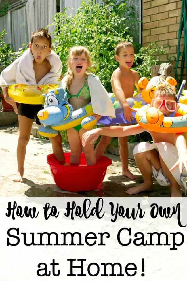 I feel that getting to spend the summers with my kids is a built-in bonus of living my life as a work from home Mom. It is certainly a lot more frugal to conduct your own summer camp at home than to send all 6 kids to a day camp. This is how we hold our own DIY Summer Camp at Home!