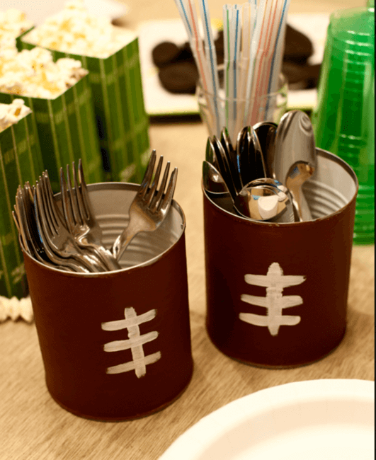 silverware caddy for the superbowl table