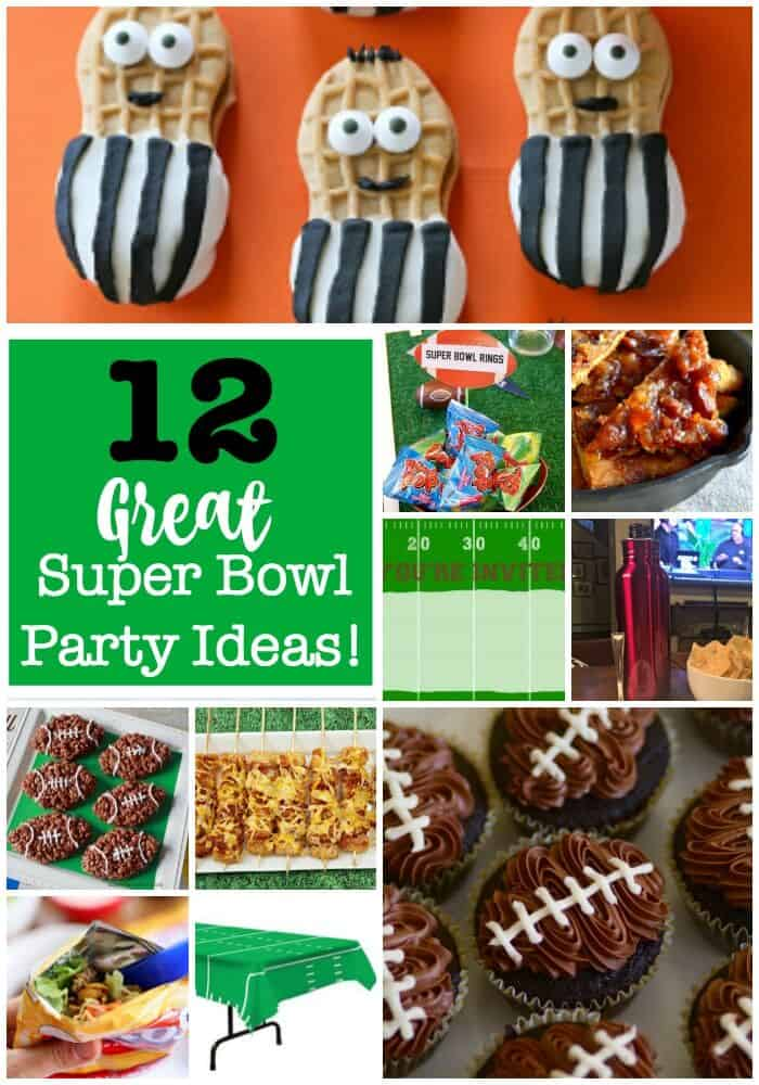 I LOVE Super Bowl Sunday SO MUCH- I practically consider it to be a family holiday! I love to create a menu of fun football-themed foods, and we even decorate just a bit to make things festive. Here are some fun super bowl ideas that we'll be using this year!