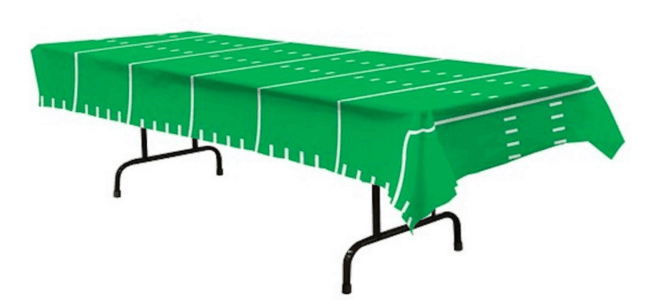 football table cover for a superbowl party