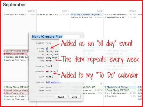 How to add a to do list to your calendar