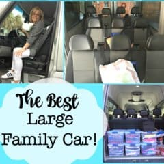 One of the more challenging decisions you have to make when you have 6 kids is finding the best large family car that is comfortable for everyone to ride in and also gets decent gas mileage. We spent a lot of time researching cars that would work for us, and truth be told- there aren't a lot of options out there- especially if you want seating for more than 8 people! We bought our Mercedes Sprinter 9 years ago- and it was really a perfect choice for our large family!
