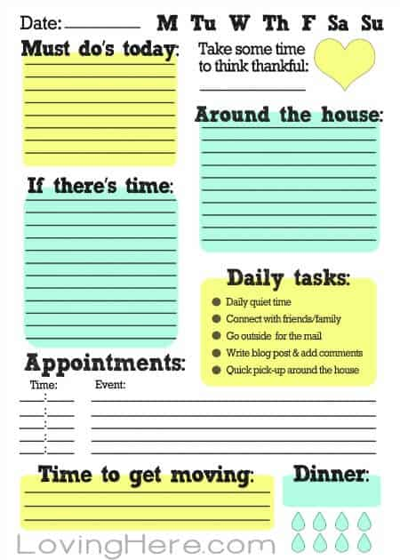 image relating to Printable Daily to Do List named 15 Suitable Paper Towards Do Lists for Chaotic Mothers - MomOf6