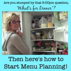 Menu planning is the best tool for busy Moms- take a few minutes once a week to plan all of your meals and you'll know what you need to buy at the store, what should be defrosted in the morning, and whether you need to do any dinner pre during the day. And the best part of all is that the 5pm hour seems a heck of a lot calmer because you are just executing a prepared plan vs trying to think of one!