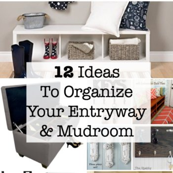 Keeping our entryways into our homes decluttered, neat, and presentable is tough! Here are 12 ideas for entryway and mudroom organization!