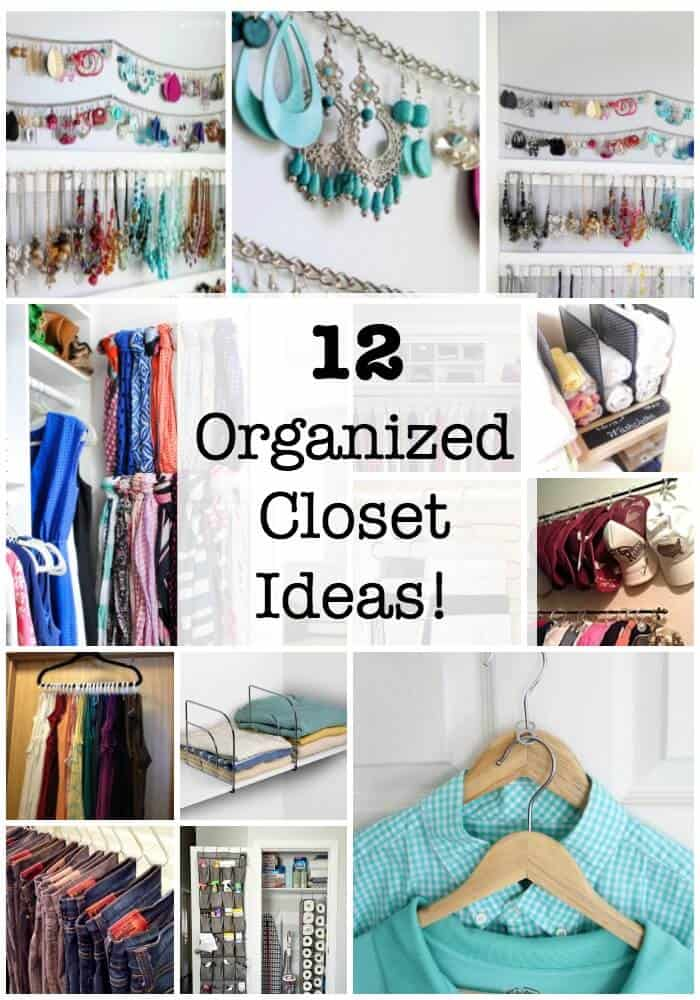 Many of us search for organized closet ideas so that we can make the most out of every square inch of our closet space while also keeping things neat and orderly so we can find what we're looking for! I've gathered together 12closet organization ideas to inspire all of us to get organizedwith our closet storage! #OrganizedCloset #ClosetOrganization #OrganizedHome #GetOrganized #OrganizedClosetIdeas