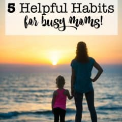 One of the best ways for a busy Mom to stay on top of her game is to have a foundation of helpful habits that she can put to use each week. These 5 habits will help you to get organized, put together a plan to tackle the week, as well as allow you to recharge your own batteries!