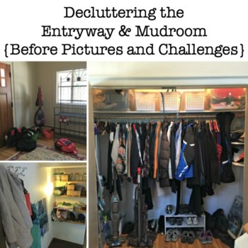 Decluttering the Entryway & Mudroom {Before Pictures and Challenges}