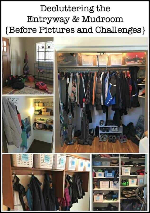 Today is the kick off to our Busy Moms Decluttering Challenge! We lay out the ground rules and tackle our first project: decluttering the entryway! (Before pics and the challenges)
