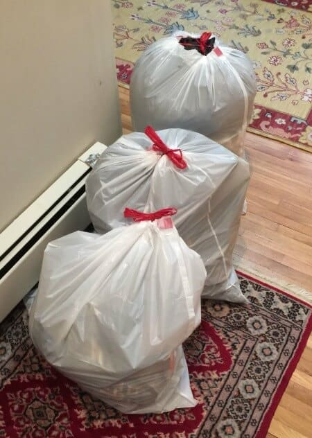 decluttering and donating