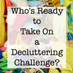 It's time for a busy Moms call to action- a decluttering challenge to help us all slim down those overstuffed closets, drawers, and shelves and help us all to get organized! We'll take on a new decluttering assignment every week!